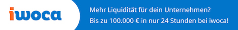 Kredit für Kleinunternehmen und Selbständige bis 100.000 Euro in 24 Stunden: Jetzt kostenloses iwoca Angebot einholen!