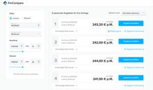 FinCompare Vergleichsportal für mittelständische Unternehmen und Selbständige: Jetzt kostenloses FinCompare Angebot einholen (hier klicken)!